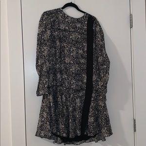 Proenza Schouler size 8 silk patterned dress